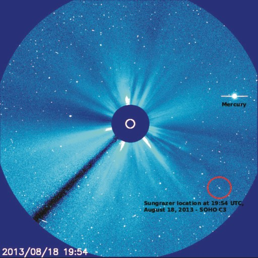 cometa visible en SOHO LASCO mn2